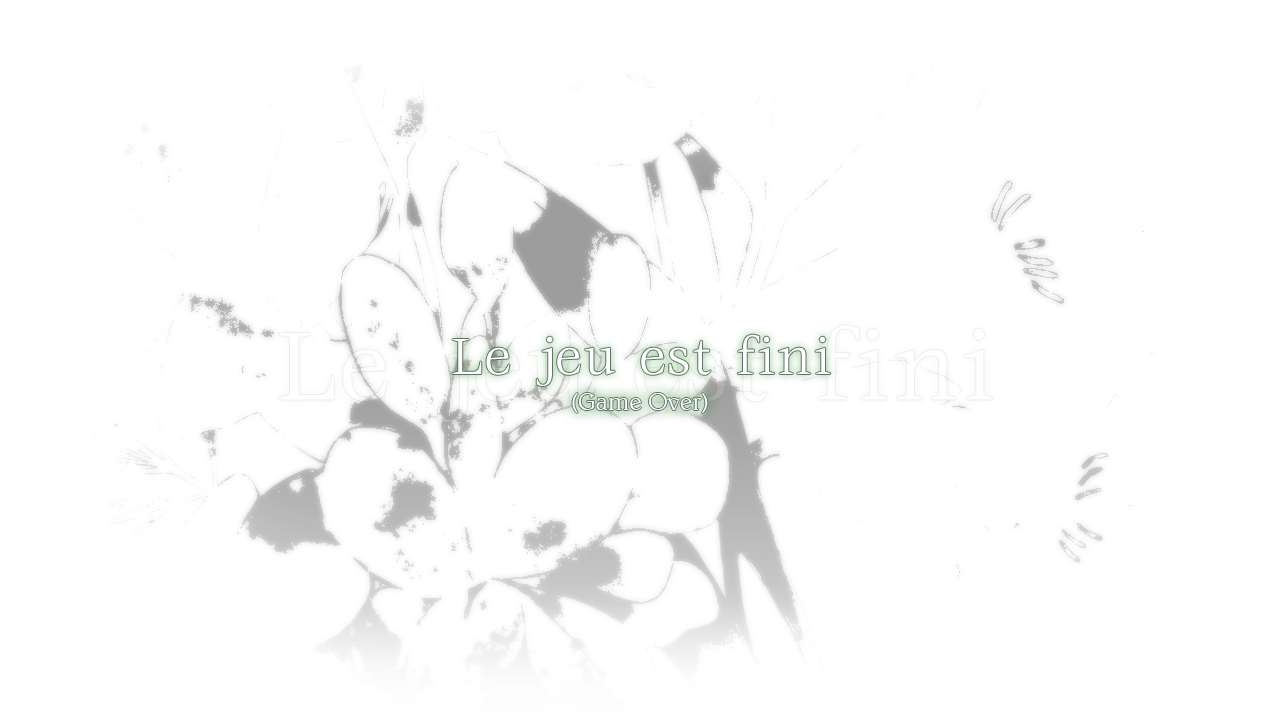 Flowers Game Over Screen